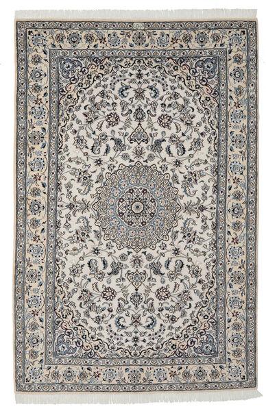 Nain 9La Matta 165X250 Äkta Orientalisk Handknuten Mörkgrå/Ljusgrå/Svart (Ull/Silke, Persien/Iran)