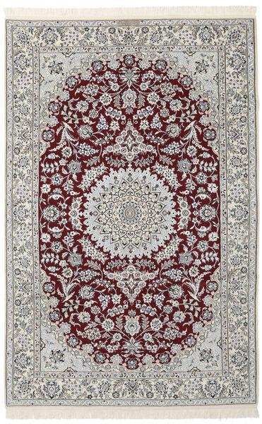 Nain 9La Matta 160X250 Äkta Orientalisk Handknuten Mörkgrå/Svart/Ljusgrå (Ull/Silke, Persien/Iran)