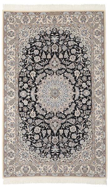 Nain 9La Matta 137X217 Äkta Orientalisk Handknuten Mörkgrå/Svart (Ull/Silke, Persien/Iran)