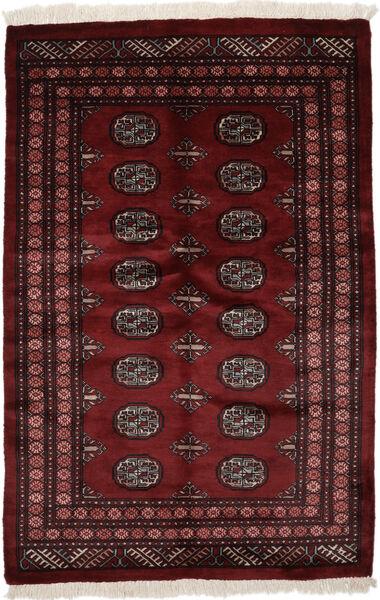 Pakistan Bokhara 3Ply Matta 124X192 Äkta Orientalisk Handknuten Svart (Ull, Pakistan)