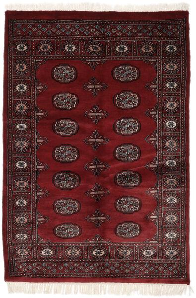 Pakistan Bokhara 3Ply Matta 121X187 Äkta Orientalisk Handknuten Svart (Ull, Pakistan)