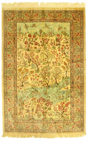 Ghom Silke Figural Matta 131X198 Äkta Orientalisk Handknuten (Silke, Persien/Iran)