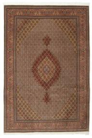 Tabriz 50 Raj Med Silke Matta 200X301 Äkta Orientalisk Handknuten Brun/Mörkbrun (Ull/Silke, Persien/Iran)