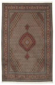 Tabriz 50 Raj Med Silke Matta 205X315 Äkta Orientalisk Handknuten Mörkbrun/Brun (Ull/Silke, Persien/Iran)