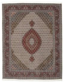 Tabriz 50 Raj Med Silke Matta 203X258 Äkta Orientalisk Handknuten Mörkbrun/Mörkgrå (Ull/Silke, Persien/Iran)