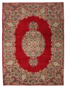 Kerman Patina Matta 277X374 Äkta Orientalisk Handknuten Mörkröd/Ljusbrun Stor (Ull, Persien/Iran)