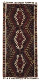 Kelim Malatya Matta 186X391 Äkta Orientalisk Handvävd Mörkbrun/Ljusbrun (Ull, Turkiet)