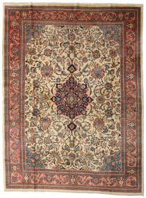 Sarough Matta 280X370 Äkta Orientalisk Handknuten Ljusbrun/Mörkgrå Stor (Ull, Persien/Iran)