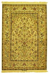 Isfahan Silke Varp Figural Signerad: Nasr Matta 142X210 Äkta Orientalisk Handknuten (Ull/Silke, Persien/Iran)