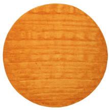 Handloom - Orange Matta Ø 300 Modern Rund Gul/Orange/Ljusbrun Stor (Ull, Indien)