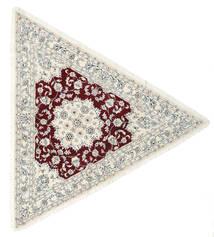 Nain 9La Matta 250X250 Äkta Orientalisk Handknuten Beige/Ljusgrå Stor (Ull/Silke, Persien/Iran)
