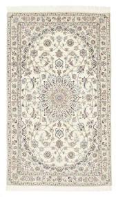 Nain 6La Matta 98X165 Äkta Orientalisk Handknuten Beige/Ljusgrå (Ull/Silke, Persien/Iran)