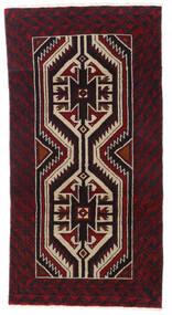 Beluch Matta 87X167 Äkta Orientalisk Handknuten Mörkbrun/Mörkröd (Ull, Persien/Iran)