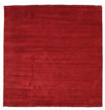 Handloom Fringes - Mörkröd Matta 200X200 Modern Kvadratisk Röd (Ull, Indien)