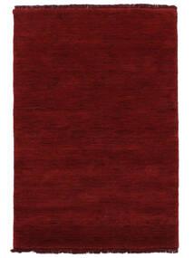 Handloom Fringes - Mörkröd Matta 200X300 Modern Röd (Ull, Indien)