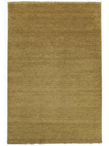Handloom Fringes - Olivgrön Matta 160X230 Modern Olivgrön (Ull, Indien)
