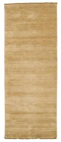 Handloom Fringes - Beige Matta 80X200 Modern Hallmatta Mörkbeige/Beige (Ull, Indien)