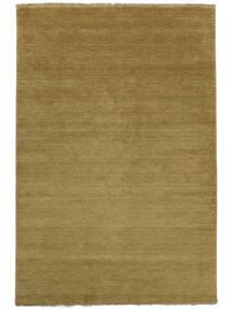 Handloom Fringes - Olivgrön Matta 300X400 Modern Olivgrön/Brun Stor (Ull, Indien)