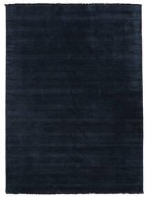 Handloom Fringes - Mörkblå Matta 300X400 Modern Mörkblå Stor (Ull, Indien)