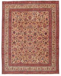 Mashad Patina Signerad: Amoghli Matta 287X370 Äkta Orientalisk Handknuten Roströd/Mörkröd Stor (Ull, Persien/Iran)
