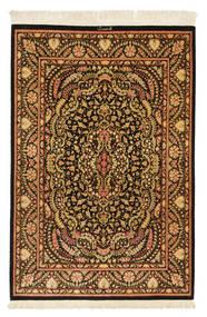 Ghom Silke Signerad: Ghom Mohammadi Matta 101X150 Äkta Orientalisk Handknuten Mörkbrun/Brun (Silke, Persien/Iran)