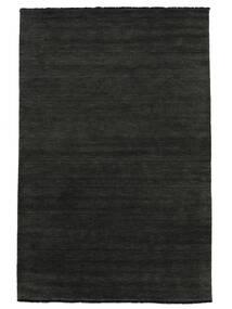 Handloom Fringes - Svart/Grå Matta 250X350 Modern Mörkgrå Stor (Ull, Indien)