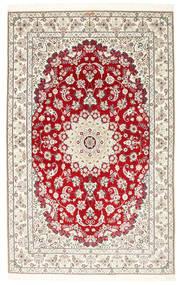 Nain 6La Habibian Matta 150X230 Äkta Orientalisk Handknuten Ljusgrå/Beige (Ull/Silke, Persien/Iran)