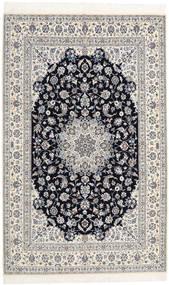 Nain 6La Habibian Matta 160X253 Äkta Orientalisk Handknuten Ljusgrå/Beige (Ull/Silke, Persien/Iran)