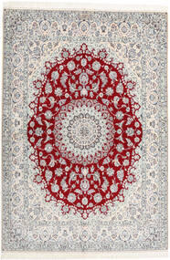 Nain 6La Habibian Matta 160X230 Äkta Orientalisk Handknuten Ljusgrå/Beige (Ull/Silke, Persien/Iran)
