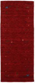 Gabbeh Loom Frame - Röd Matta 80X200 Modern Hallmatta Mörkröd (Ull, Indien)