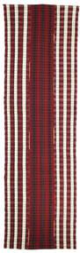 Kelim Semiantik Turkey Matta 150X500 Äkta Orientalisk Handvävd Hallmatta Mörkröd/Mörkbrun (Ull, Turkiet)