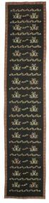 Kelim Bulgarian Matta 174X850 Äkta Orientalisk Handvävd Hallmatta Mörkgrå (Ull, Bulgarien)