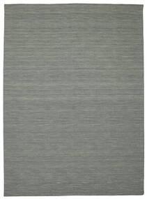 Kelim Loom - Mörkgrå Matta 250X350 Äkta Modern Handvävd Ljusgrå/Mörkgrön Stor (Ull, Indien)