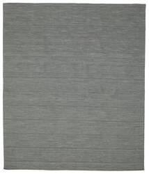 Kelim Loom - Mörkgrå Matta 250X300 Äkta Modern Handvävd Mörkgrön/Ljusgrå Stor (Ull, Indien)