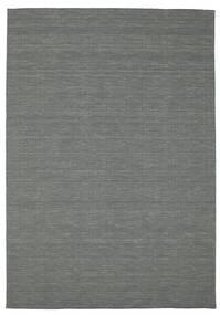Kelim Loom - Mörkgrå Matta 200X300 Äkta Modern Handvävd Mörkgrön (Ull, Indien)