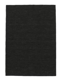 Kelim Loom - Svart Matta 160X230 Äkta Modern Handvävd Svart (Ull, Indien)