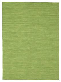 Kelim Loom - Grön Matta 160X230 Äkta Modern Handvävd Olivgrön (Ull, Indien)