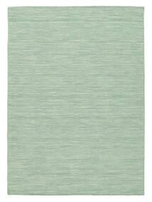 Kelim Loom - Mint Grön Matta 140X200 Äkta Modern Handvävd Pastellgrön/Turkosblå (Ull, Indien)