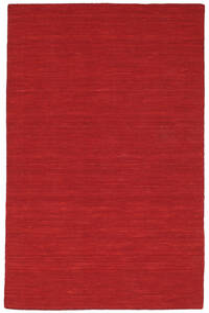 Kelim Loom - Mörkröd Matta 120X180 Äkta Modern Handvävd Röd (Ull, Indien)