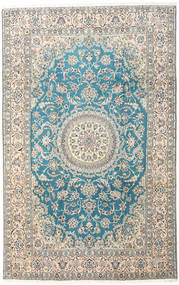 Nain 9La Matta 197X310 Äkta Orientalisk Handknuten Ljusgrå/Beige (Ull/Silke, Persien/Iran)