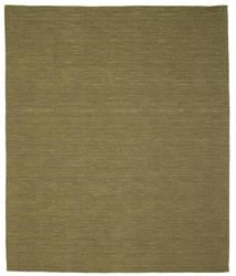Kelim Loom - Oliv Matta 250X300 Äkta Modern Handvävd Olivgrön Stor (Ull, Indien)