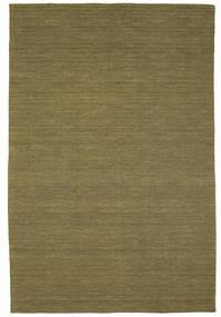 Kelim Loom - Oliv Matta 200X300 Äkta Modern Handvävd Olivgrön (Ull, Indien)