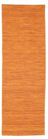 Kelim Loom - Orange Matta 80X250 Äkta Modern Handvävd Hallmatta Orange (Ull, Indien)