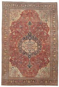 Farahan Matta 368X550 Äkta Orientalisk Handknuten Mörkröd/Brun Stor (Ull, Persien/Iran)