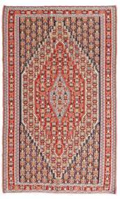 Kelim Senneh Matta 150X245 Äkta Orientalisk Handvävd Brun/Roströd (Ull, Persien/Iran)