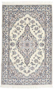 Nain 6La Matta 108X170 Äkta Orientalisk Handknuten Beige/Ljusgrå (Ull/Silke, Persien/Iran)