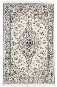 Nain 6La Matta 110X176 Äkta Orientalisk Handknuten Beige/Ljusgrå (Ull/Silke, Persien/Iran)