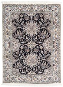 Nain 6La Matta 123X170 Äkta Orientalisk Handknuten Ljusgrå/Beige (Ull/Silke, Persien/Iran)