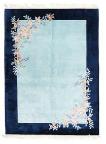 Kina Art Silke 120 Line Matta 170X230 Äkta Orientalisk Handknuten Mörkblå/Ljusblå/Turkosblå ( Kina)