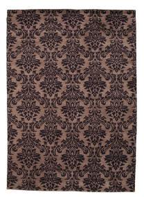 Himalaya Matta 170X240 Äkta Modern Handknuten Svart/Mörkbrun (Ull, Indien)
